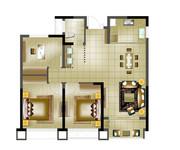 高层B三室两厅一卫